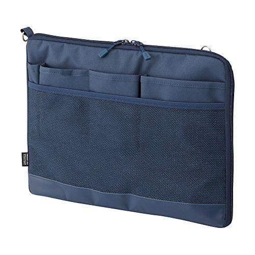 リヒトラブ バッグインバッグ A4 ヨコ ネイビー A7681-11