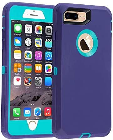 Co Goldguard Case for iPhone 7 Plus 8 Plus Heavy Duty 3 in 1 Built in Screen Protector Durable product image