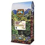 Java Planet, Organic Coffee Beans, Decaf Peru Single Origin, Gourmet Medium Dark Roast of Arabica Whole Bean Coffee, Water Processed Decaffeinated, Certified Organic, 1LB Bag