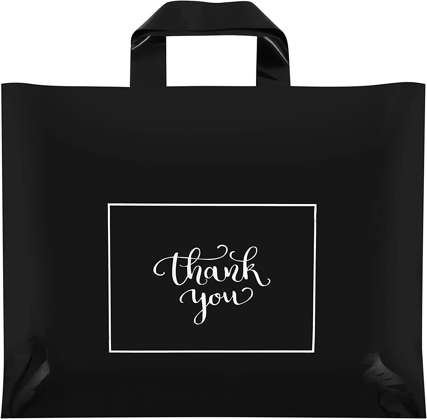Thank 5 popular You Bags for Business Plastic Black 50 Pa Memphis Mall Merchandise