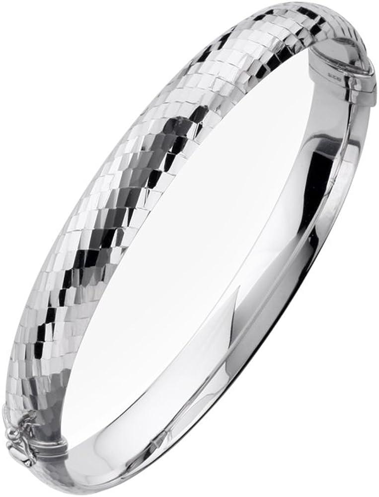 Gold  Honey 1995 GH Sterling Silver Hinged Bangle Bracelet wit