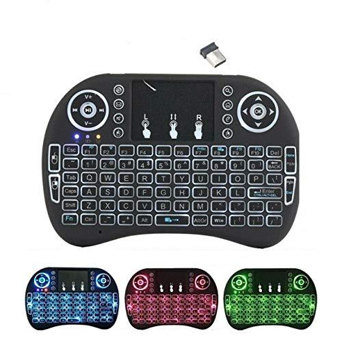 Mini teclado inalámbrico i8 de 2,4 GHz con panel táctil y ratón LED retroiluminado para PC Xbox 360, Xbox One, PS3, PS4, Google, Android, TV Box, HTPC IPTV