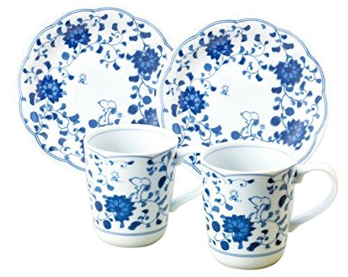 すぬうぴい 藍唐草 マグ&ケーキ ペアセット 「化粧箱入」 630744