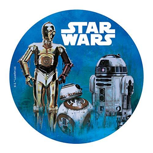 Dekora 114365 Star Wars Tortenaufleger aus Esspapier, 20 cm