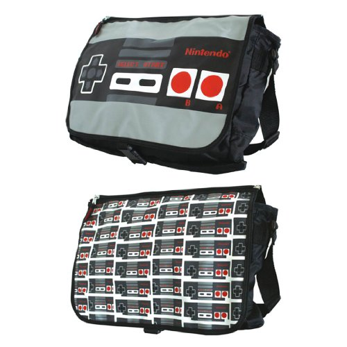 Nintendo Classic Nes Controller Reversible Flap Messenger Bag. Officially licensed