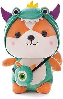 Martinimble Squirrel Ornament,Cute Squirrel Shiba Inu Dog Plush Toy Stuffed Soft Animal Pillow for Kids Valentine(Style:Dinosaur,bee,elk.Children 4-6 Years Old)