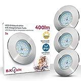 Faretti LED ad incasso, led integrati 5W, diametro foro 60mm, faretti per bagno ultrasotti...