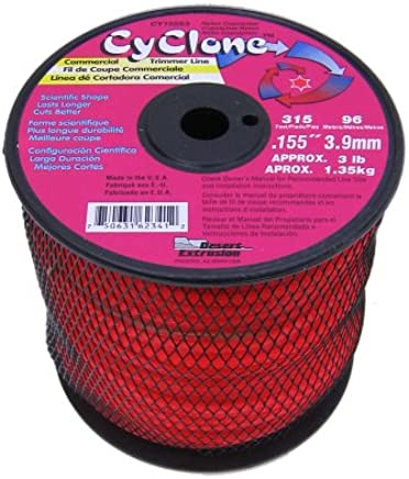 Cyclone .155-Inch-by-315-Foot Commercial Trimmer Line, Red