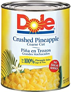 Dole Crushed Pineapple in Juice, 107 Ounce Cans (Pack of 6)