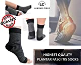 Lumino Cielo All-Day Compression Socks for Plantar Fasciitis Pain relief Ankle Support