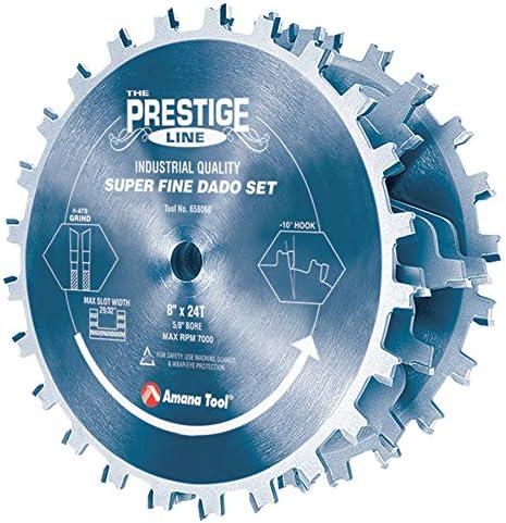 "lowest Amana Tool - 658060C Carbide Tipped lowest Electro-BLU Prestige Dado 8"" Dia online x 24T H-ATB, 5/8 sale"