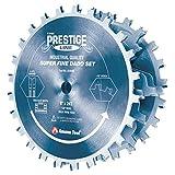 Amana Tool - 658060C Carbide Tipped Electro-BLU Prestige Dado 8' Dia x 24T H-ATB, 5/8