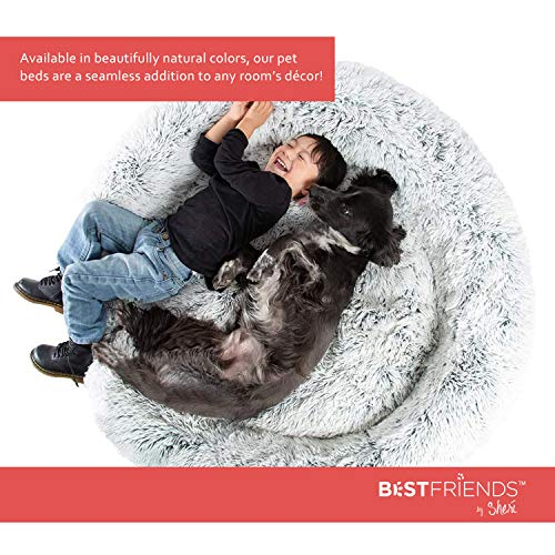 Best Friends by Sheri The Original Calming Donut Cat and Dog Bed in Shag Fur