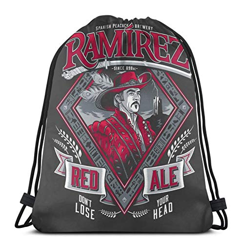 ewretery Highlander Ramirez Red Ale - Zaino sportivo unisex con cordino, con cordino, grande borsa con coulisse
