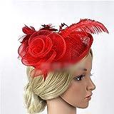 Ouzhoub Accessoires pour Cheveux, Femmes Bibi Hat Fleur Plume Accessoires...
