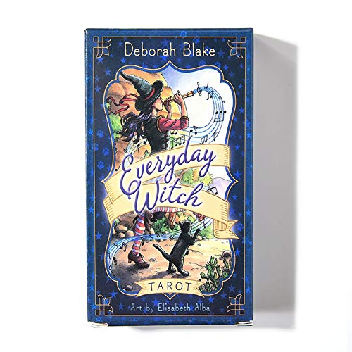 QLWLQL Everyday Witch Tarot - Naipes para la Familia,Fiestas y Entretenimiento,edición en inglés,baraja de 78 Cartas