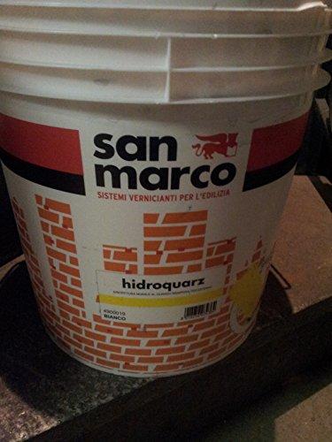 pittura murale al quarzo bianca per esterno San Marco 25 kg.Specifica per muri all'esterno o fondo per vernici decorative. Vernice al quarzo