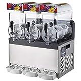 Commercial Slushy Machine - Juice Smoothie Margarita Frozen Drink Machine Ice Slush Machine, Cooling Beverage Making Machine for Milk-Tea Stores, Restaurant - 15L×2| 15L×3