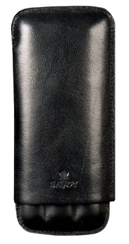 Savoy Double Corona Cigar Case By Ashton (Black)