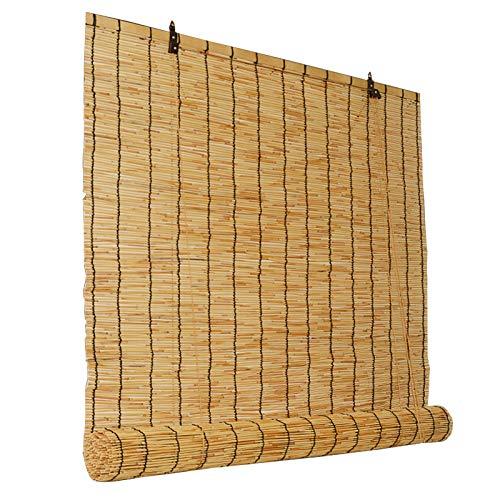 LLXNQ026 Cortinas De Caña Natural Estores De Bambú Cortina De Caña Opaca Retro Cortina De Bambú Impermeable,Ventilación/a Prueba De Humedad, para Familia/Salón De Té/Restaurante(100cm*200cm)