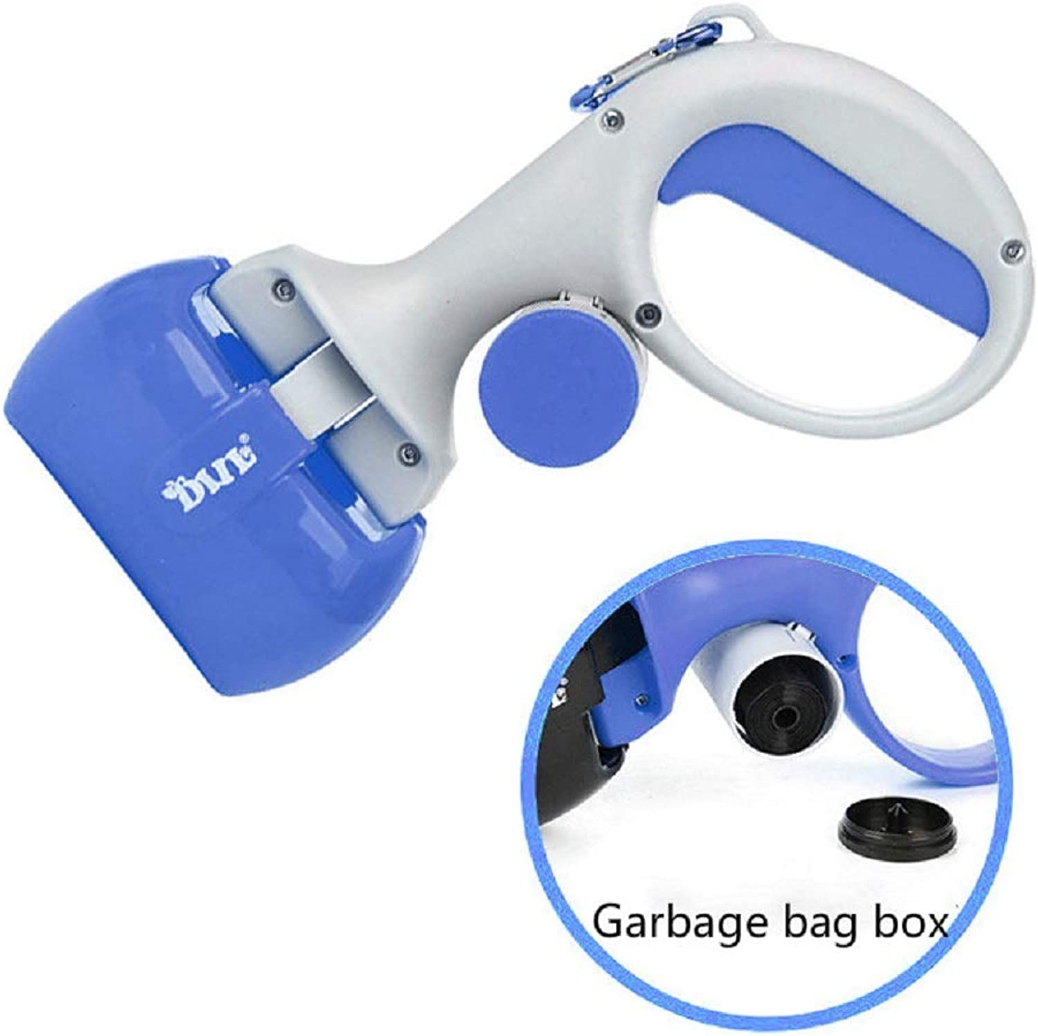 1 PCS Pet Picking Device Combo Toilet Garbage Bag Convenient pet Dog Dog Cleaning Supplies AP9261712 (color   bluee)