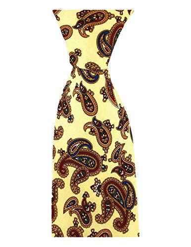 David Van Hagen Pastel cravate jaune vintage de