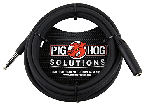 """Pig Hog PHX14-10 1/4"""" TRSF to 1/4"""" TRSM Headphone Extension Cable, 10 Feet"""