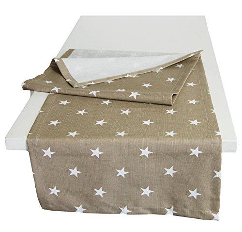 beties astérisque Nappe dans Intéressant Taille Sélection 100% Coton agréable & Qualité Couleur Taupe, 100% Coton, Taupe, 40 x 145 cm