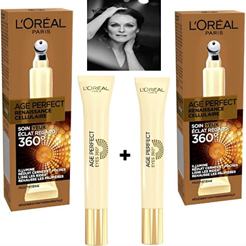 L'Oréal Paris Age Perfect Renaissance Celular Cuidado Ojos 15 ml (lote de 2 productos)