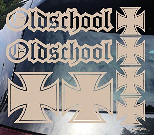 OLD SCHOOL Sticker SET IRON CROSS eiserners Kreuz Aufkleber Arme Armi Bundeswehr Vintage US Style Ratstyle Sticker