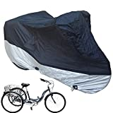 Ajfashion Adult Tricycle Cover Bike Cover, Outdoor Bicycle Motocycle Storage Cover, Heavy Duty Ripstop...