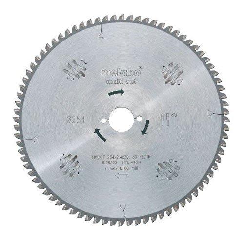 Metabo Sägeblatt Multi Cut-Professional (universeller Einsatz; Zahnform: FZ/TZ, 80 Z, Material: HW/CT) 628088000
