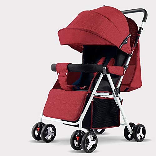 Ultra-Kinderwagen-Licht Folding Stroller Can Sit Reclining Kinderwagen Kinderwagen, Mit Justierbarem Canopy, Abschließbare Hinterräder,e