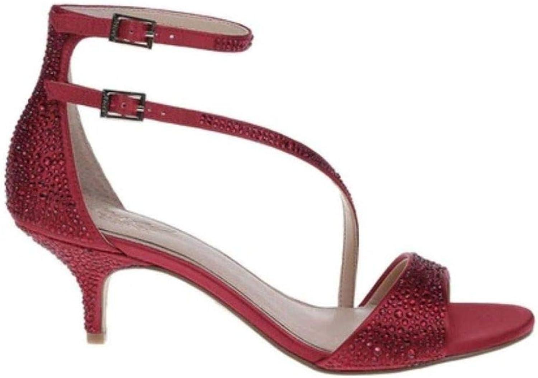 Badgley Mischka damen 39;s 39;s Tangerine Heeled Sandal, rot Satin, 11 M  fantastische Qualität