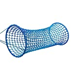 HearthSong Weather-Resistant Hanging Woven Rope Tunnel Bridge for Kids, 6'L x 35' Diam., Holds Up to 400 Lbs.