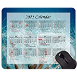 Yanteng Gaming Mouse Pad 2021 Year Calendar With Holiday、Flying Seeds Fluffy Mouse Pad With Stitched Edge