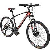 Merax 26' Aluminum 24-Speed Mountain Bike with Disc Brakes Lightweight Bicycle...