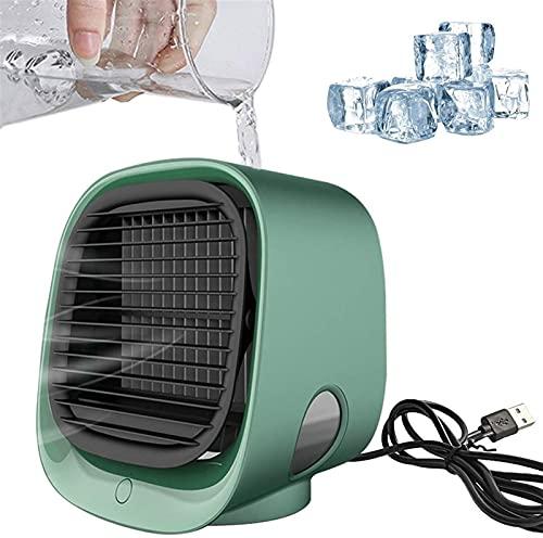 Acondicionadores de aire con humidificador USB Air Cooler Ajustable Fan de refrigeración personal Pequeño purificador de enfriadores evaporativos para el hogar, dormitorio, oficina, al aire li