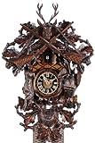 von Eble Uhren-Park Kuckucksuhr Original Schwarzwälder Kuckuckuhr Echtholz mechanisches 8-Tage Laufwerk NEU VDs Zertifikat Hönes -Jagdstück 44cm- 8261/3NU