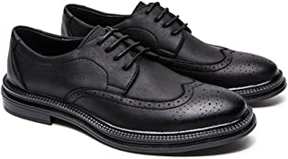 [ランボ] ビジネスシューズ メンズ ブラック 通勤 おしゃれ 黒い カジュアルシューズ ポインテッドトゥ 通気性 シンプル カジュアルシューズ 結婚式 25.0cm 幅広 背が高くなる靴 柔らかい 軽量