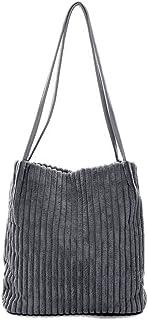 Ulisty Damen Klein Cord Schultertasche Mode Eimer Tasche Einkaufstasche Handtasche grau
