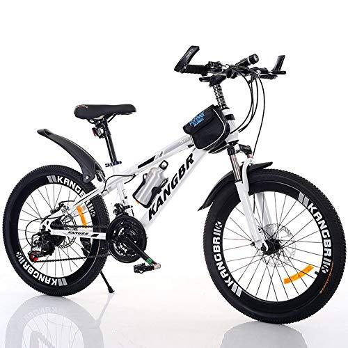 ZXYMUU Bicicleta Montaña, Acero Carbono Mountain Bike, Freno De Doble Disco, Puente...