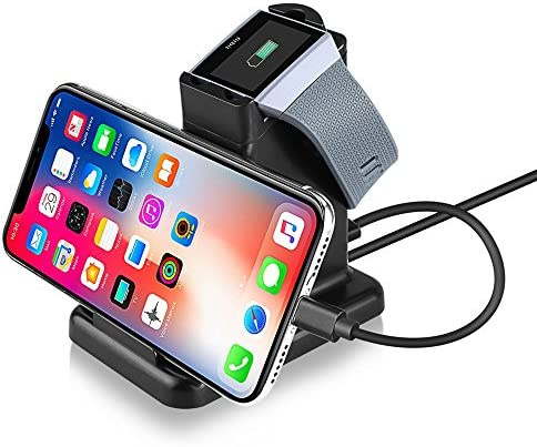 Moutik Fitbit Ionic Charging Stand 2 in 1 Fitbit Ionic Charger Station Phone Charging Station product image