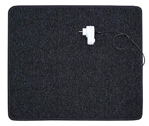 INROT Heiz Systeme 70013 Tapis chauffant infrarouge avec télécommande incluse 70 W 60 x 70 cm