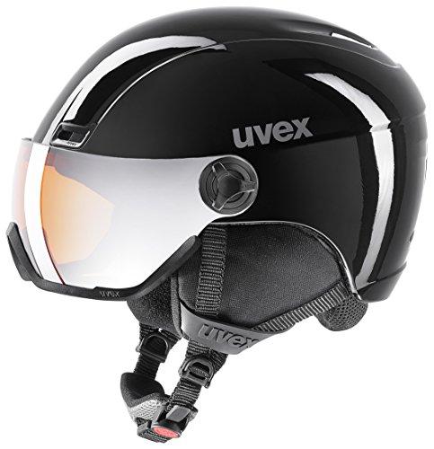 Uvex Erwachsene HLMT 400 visor Skihelm, black, 53-58 cm