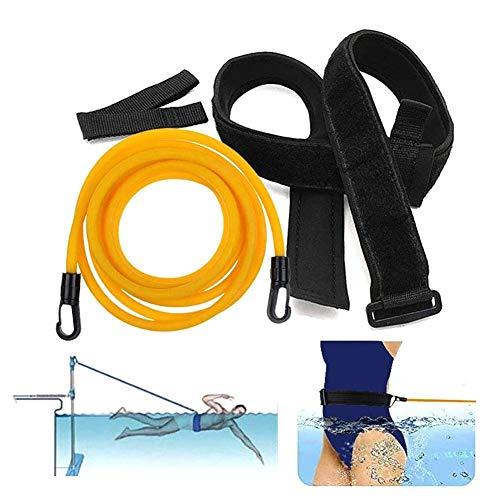 LIANA IRWIN Schwimmgürtel 3/4 Meter,Pool Schwimm Widerstandsband Geschwindigkeit Krafttraining Schwimmtraining Schwimmtrainer Trainingsseil, Trainingsausrüstung für Schwimmen