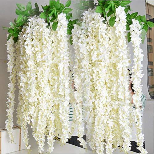 Groothandel 10st rotan strip blauweregen kunstbloem Vine voor bruiloft Home Party kinderkamer decoratie DIY Craft nep bloemen, MULTI