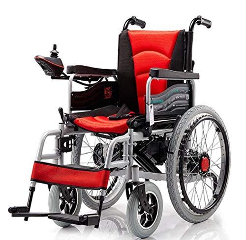 GJX elektrische rolstoel met vier wielen, metalen klapprofiel, oudere lichte elektrische rolstoel