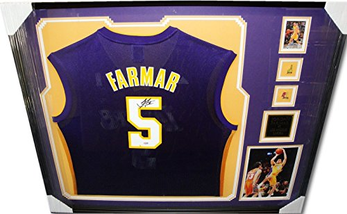 Jordan Farmar Signed Autograph Jersey Custom Framed Los Angeles Lakers PSA/DNA