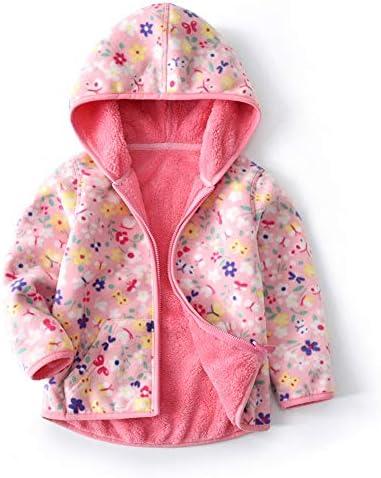 Feidoog Toddler Polar Fleece Jacket Hooded Baby Boys Girls Autumn Winter Long Sleeve Thick Warm product image